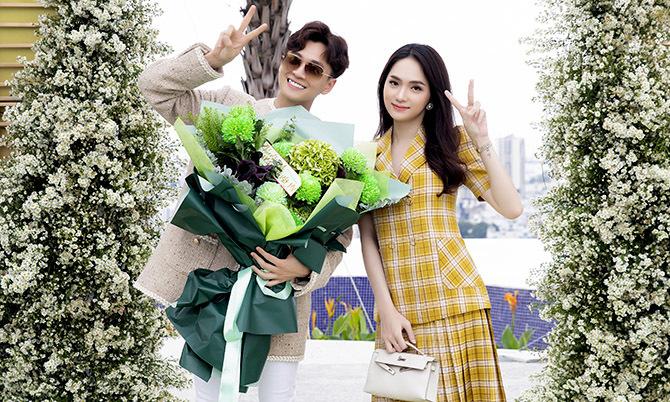 Hương Giang cùng dàn sao tới chúc mừng Ngô Kiến Huy