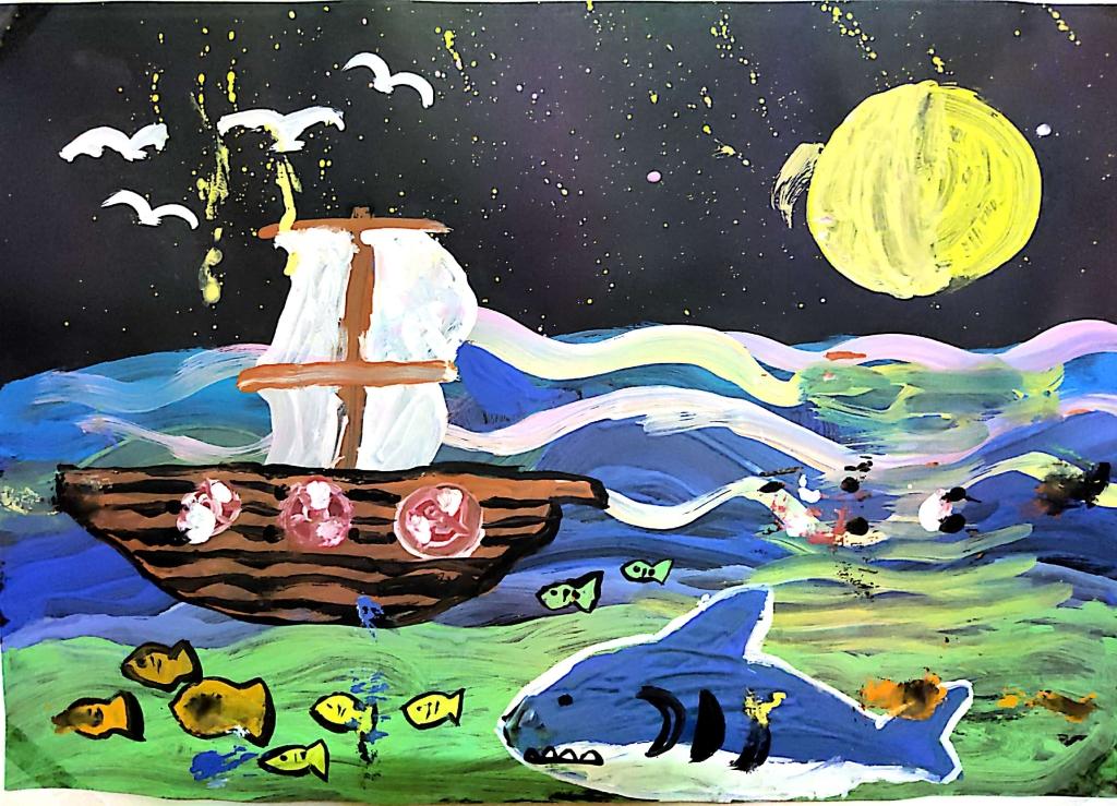 Hoàng Nguyên (10 tuổi) mơ ước được lái con tàu vượt đại dương để nhìn ngắm cảnh vật  ở ngoài khơi xa. Biển bao la, rất xinh đẹp nên bé mong mọi người cùng chung tay giữ gìn màu xanh của biển để các loài sinh vật được sống trong môi trường trong xanh.