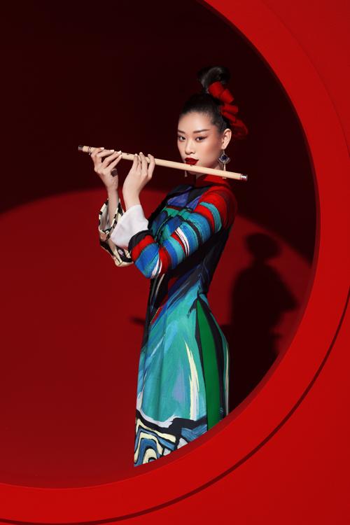 Bộ sưu tập Sắc màu hạnh phúc sẽ được trình diễn trong đêm khai mạc Lễ hội Áo dài vào ngày 11/10 tại Bảo Tàng Lịch sử TP HCM.