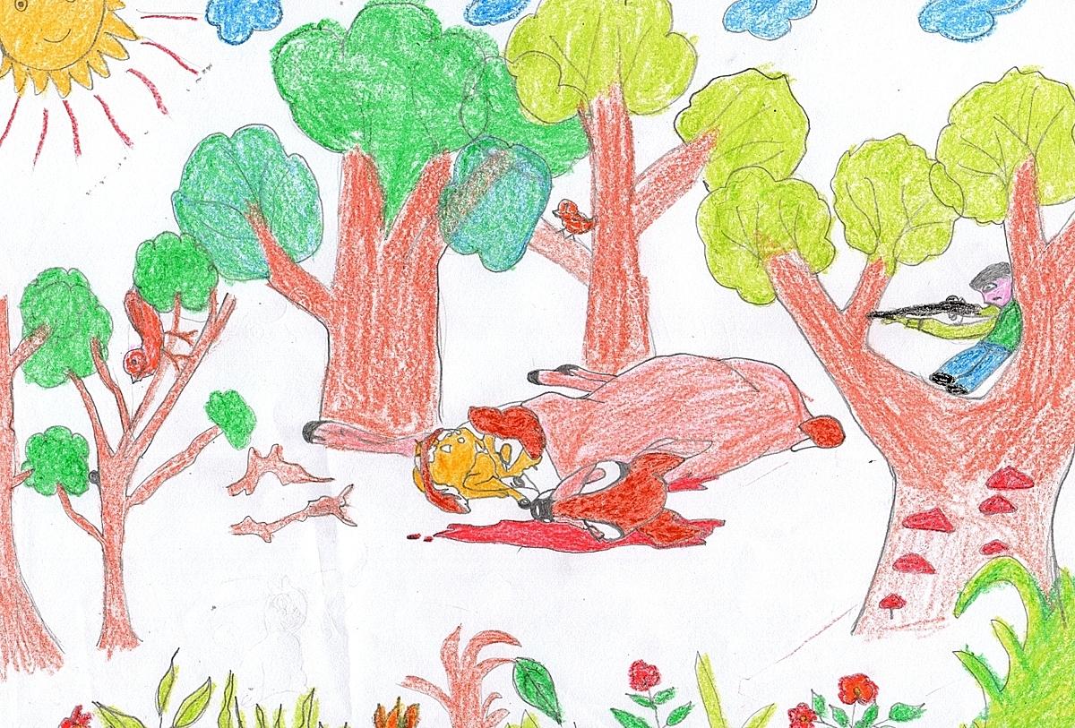 cảnh Bambi đang nằm gục vào lòng mẹ (lúc này đã bị bắn chết) từ biệt. Khoảnh khắc này khiến con vô cùng xúc động. Con ước mong không còn hành vi săn bắt các loài động vật hoang dã, để chúng được sinh sống vui vẻ trong ngôi nhà của mình. Con mong chúng sẽ được tung tăng gặm cỏ trên những khu rừng đồng bằng.