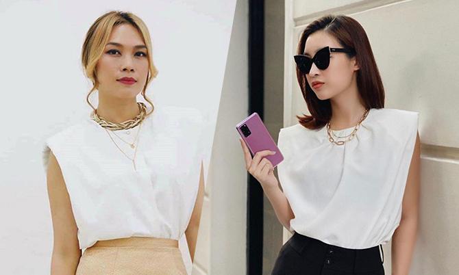 Mỹ Tâm theo trend áo độn vai cùng sao Việt