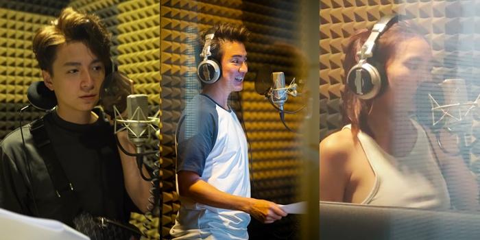 Ngô Kiến Huy, Đàm Vĩnh Hưng và Lan Ngọc thu tiếng cho phim.