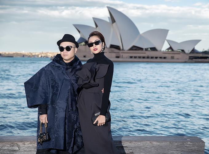 Người đẹp sinh năm 1986 bay sang Australia ủng hộ Đỗ Mạnh Cường làm show Back to Nature.