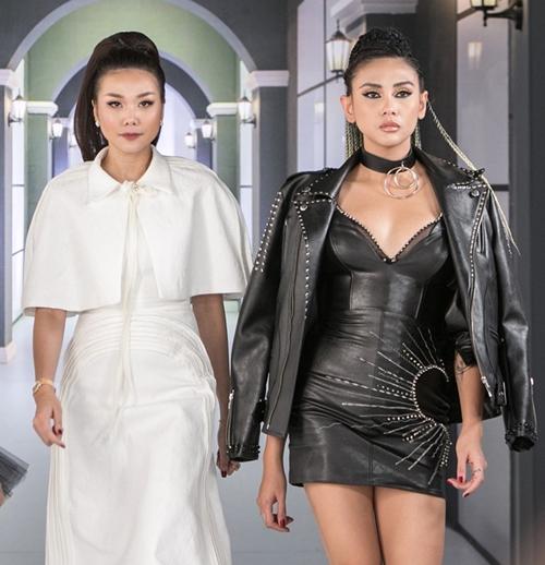 Thanh Hằng (trái) xuất hiện cùng Võ Hoàng Yến tại một sự kiện.