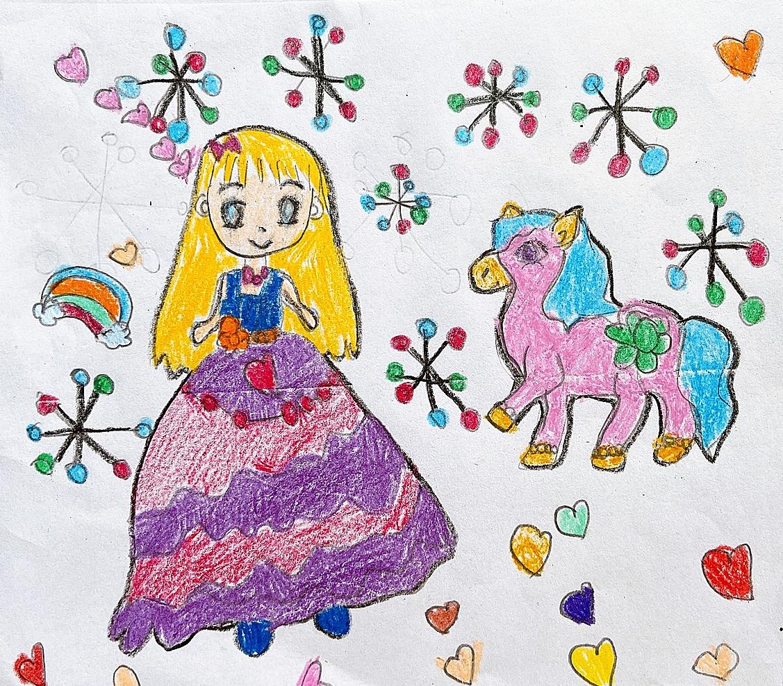 Thế giới cổ tích với cô công chúa xinh đẹp, chú ngựa Pony, những bông tuyết rơi là điều bé Hà Mi vẫn thường tưởng tượng qua câu chuyện mẹ kể.