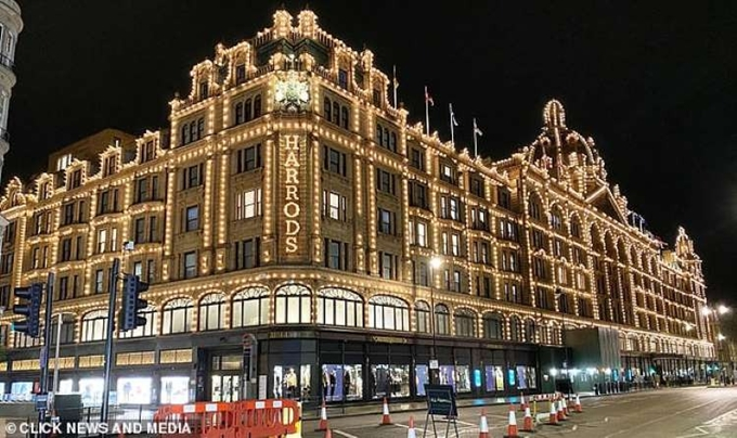 Một góc phố London được phong tỏa phục vụ quay phim.
