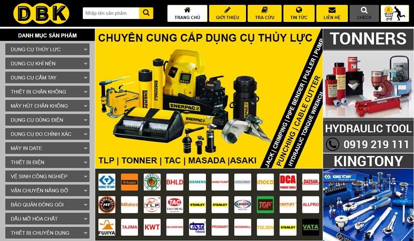 Website bán hàng của DBK Việt Nam.