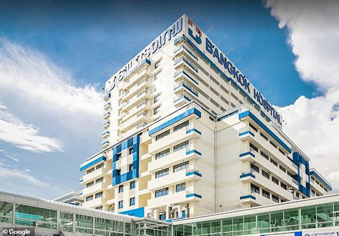 Bệnh viện Bangkok, nơi được cho là điều trị bệnh cho nhà vua Thái Lan từ 19/10 đến 21/10. Ảnh: Google.