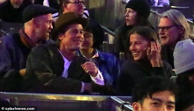 Nicole và Brad Pitt tại buổi biểu diễn của Kanye West ở Los Angeles tháng 11/2019.