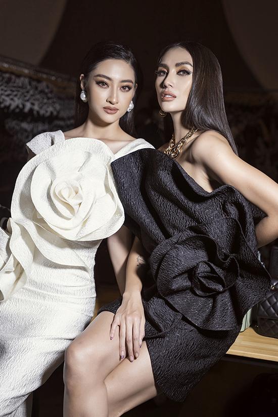 Võ Hoàng Yến và Lương Thùy Linh tại hậu trường show SIXDO.
