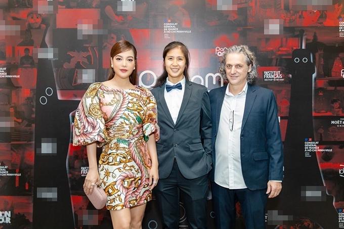 Trương Ngọc Ánh bên nhà làm phim Việt kiều Janet Ngô và nhà sản xuất người Pháp Pascal Chinarro - người sáng lập LHP hoạt hình Panamanic.