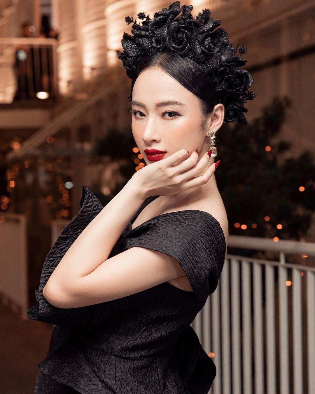 Angela Phương Trinh thu hút sự chú ý trên thảm đỏ show Đỗ Mạnh Cường.