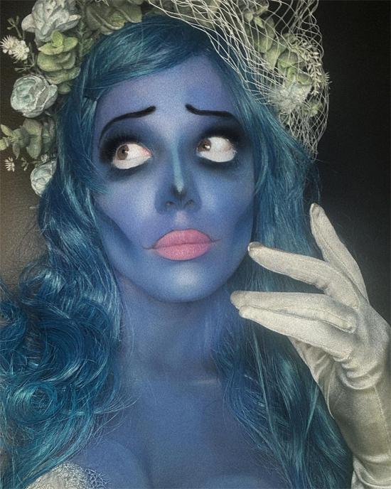 Ca sĩ Halsey khiến các fan không thể nhận ra khi hóa trang thành Cô dâu ma trong phim hoạt hình The Corpse Bride của đạo diễn Tim Burton.