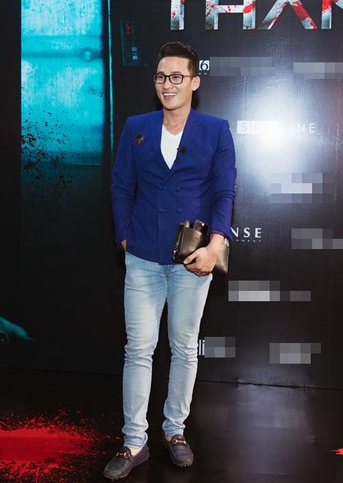 Diễn viên Hà Trí Quang dự ra mắt phim.