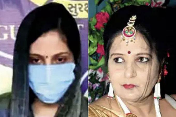 Nikita (trái) bị tình nghi giết mẹ chồng (phải) hôm 27/10. Ảnh: Times of India.