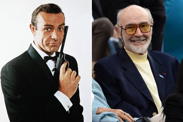 Sean Connery thời đóng James Bond và khi về già.