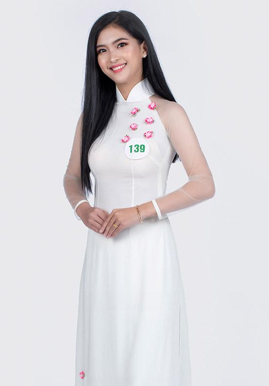 Hoàng Thị Ngọc Nhi cao 1,68 m là thí sinh của tỉnh Đắk Nông. Cô đang học Đại học Tây Nguyên.