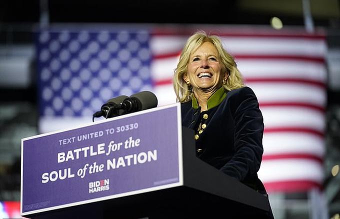 Bà Jill Biden - vợ của tân tổng thống đắc cử Joe Biden. Ảnh: AP.
