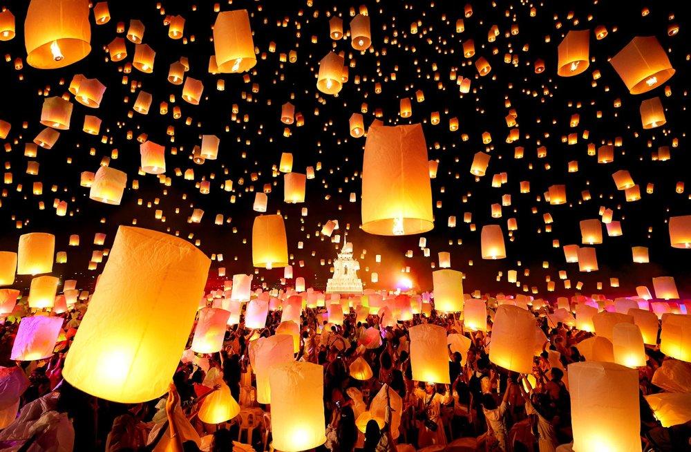 Thế giới cổ tích ở lễ hội đèn trời Thái Lan mùa Covid - 1