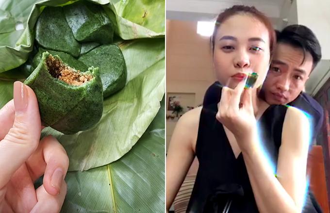 Món bánh ngải yêu thích của Đàm Thu Trang - Cường Đôla