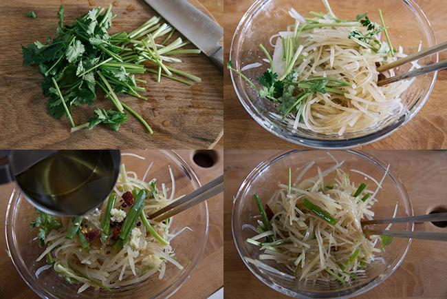 Salad khoai tây kiểu Trung Quốc - 2