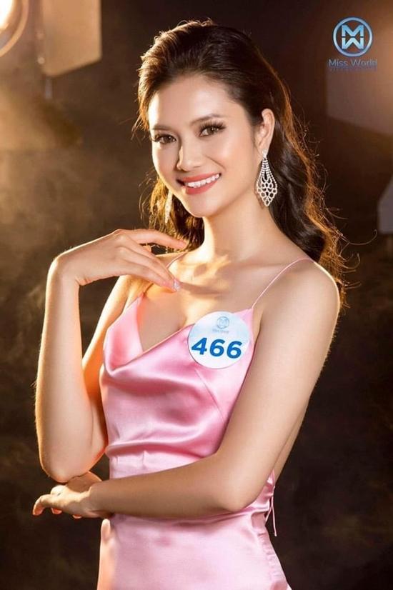 Khi chọn đúng layout, người đẹp trông trẻ trung, cuốn hút hơn. Trước đó, cô từng ghi tên mình vào top 25 cuộc thi Hoa hậu Thế giới Việt Nam 2019.