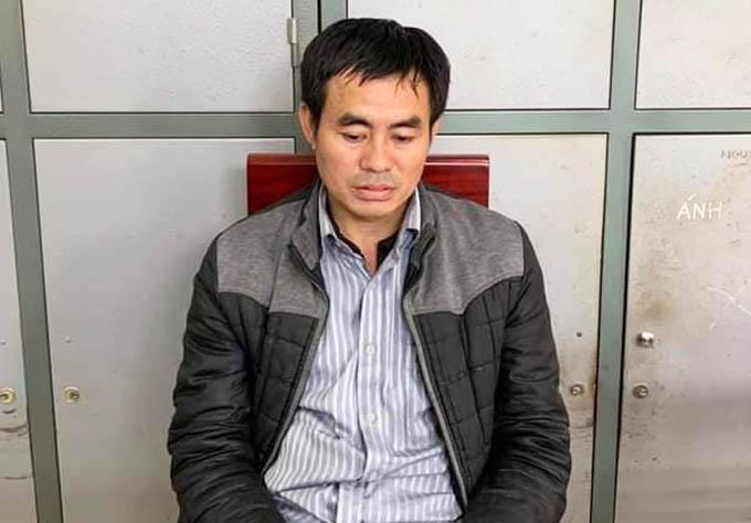 Lương Văn Tuấn tại cơ quan điều tra. Ảnh: Công an cung cấp