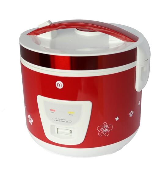 Nồi cơm niêu cơ Mishio MK22 1,8L giảm 669.000đ (-25%)với dung tích 1.8 lít có thể nấu từ 0.2 đến 1.5kg gạo, thích hợp sử dụng cho những gia đình 4-6 thành viên.trang bị lớp chống dính tốt, giúp nấu cơm nhanh, ngon, không lo cháy dính vào nồi và dễ dàng chùi rửa. thiết kế đặc biệt cho phù hợp với lòng nồi dày, bo tròn, do đó mâm cũng bo tròn, ôm trọng lòng nồi làm cho sự truyền nhiệt được tốt hơn, tiết kiệm điện và cơm ngon hơnkhả năng giữ ấm cơm trong thời gian dài, dù bận rộn bạn vẫn có ngay chén cơm nóng để dùng bữa.nấu tự động nên sử dụng rất đơn giản và dễ dàng. Với 1 cần gạt và 2 đèn báo các chế độ nấu cook và hâm nóng warm cho quá trình nấu hoàn toàn tự động.