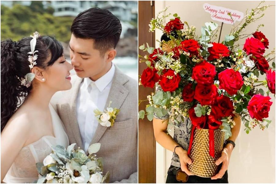 Vợ chồng Trương Nam Thành kỷ niệm hai năm cưới.