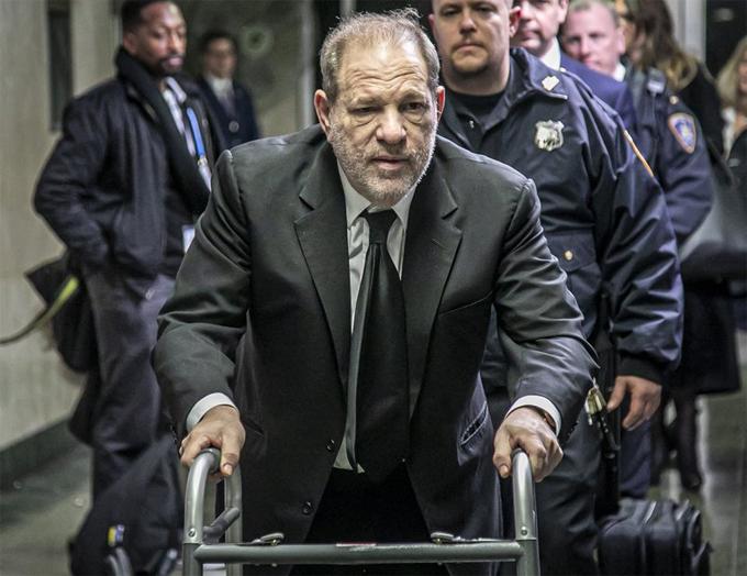 Harvey Weinstein tại tòa hồi tháng 1/2020.