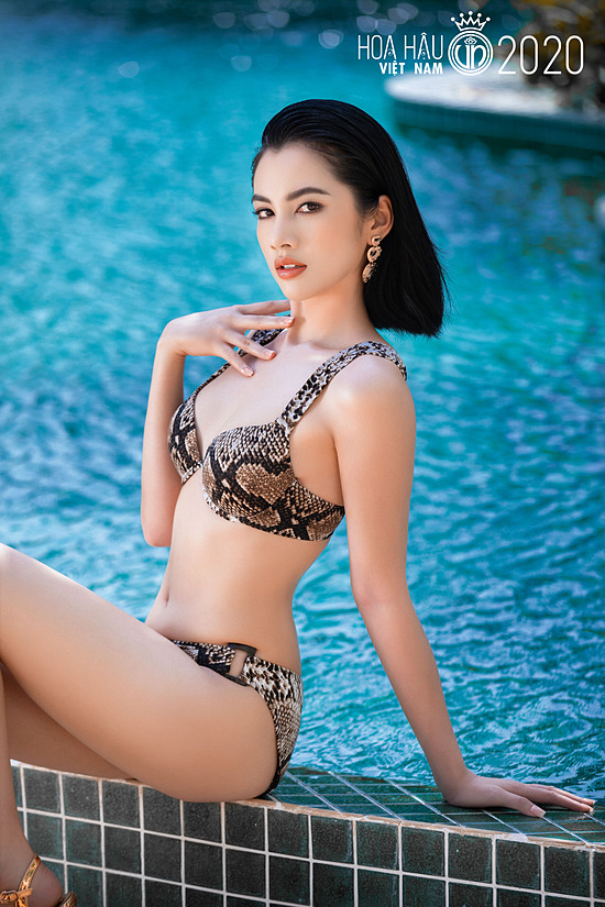 Nguyễn Thị Cẩm Đan năm nay 18 tuổi, được biết đến với danh xưng thí sinh có gương mặt đẹp nhất cuộc thi. Mỹ nhân quê An Giang cao 1,72 m, hình thể 83-64-92 cm.