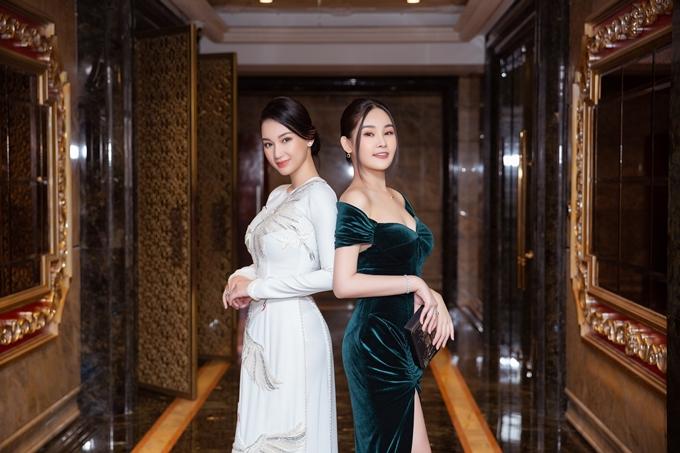 Hôm 18/11, MC - diễn viên Quỳnh Chi cùng hoa hậu Ngân Anh dự một lễ trao giải trong ngành bất động sản tại TP HCM.