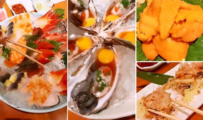Ngọc Trinh ăn sashimi với muối chanh ớt - 2