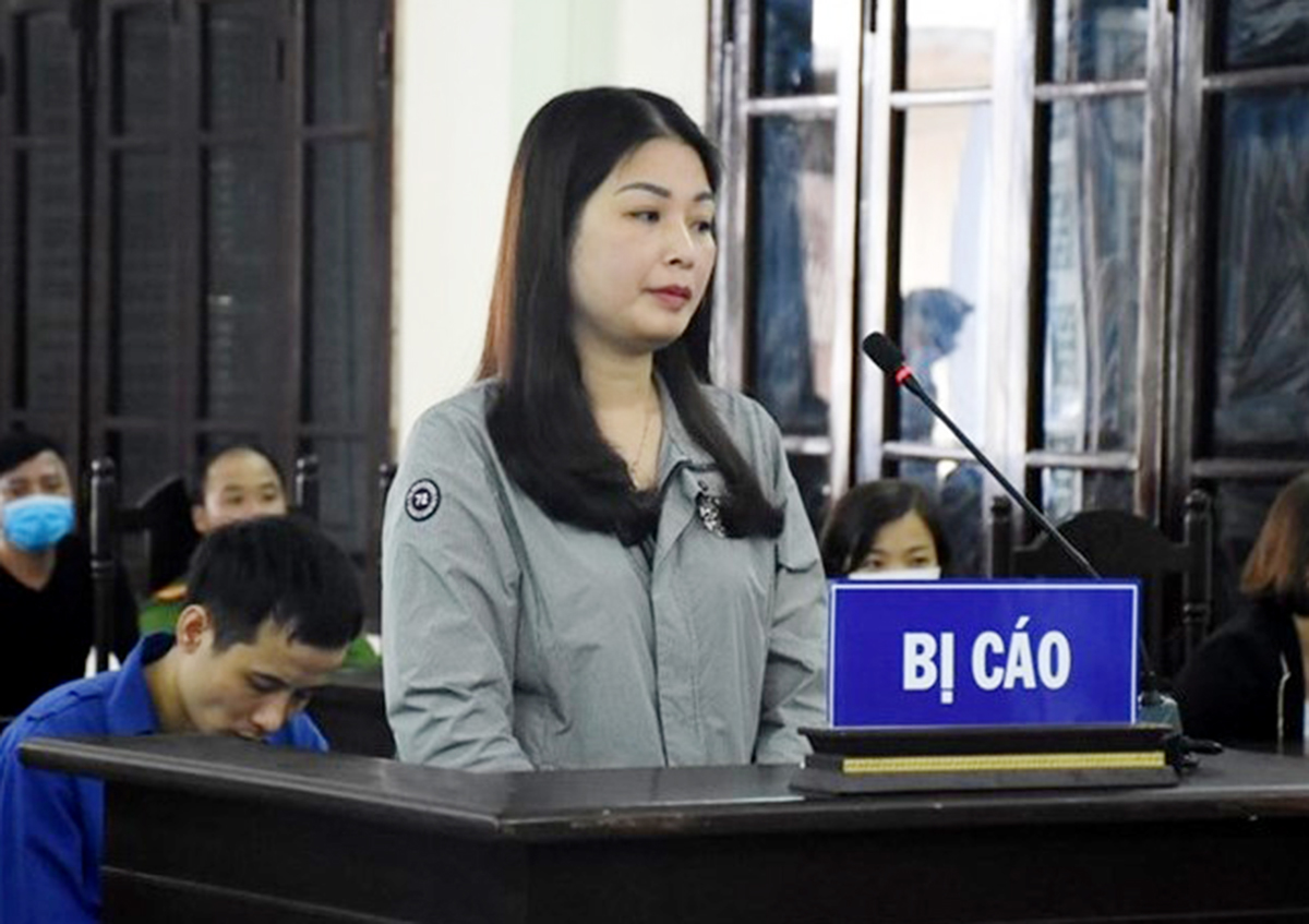 Bị cáo Hoàng Thị Ánh Nguyệt bị Tòa án thành phố Thái Bình tuyên phạt 12 tháng tù về tội Cố ý gây thương tích. Ảnh: CTV