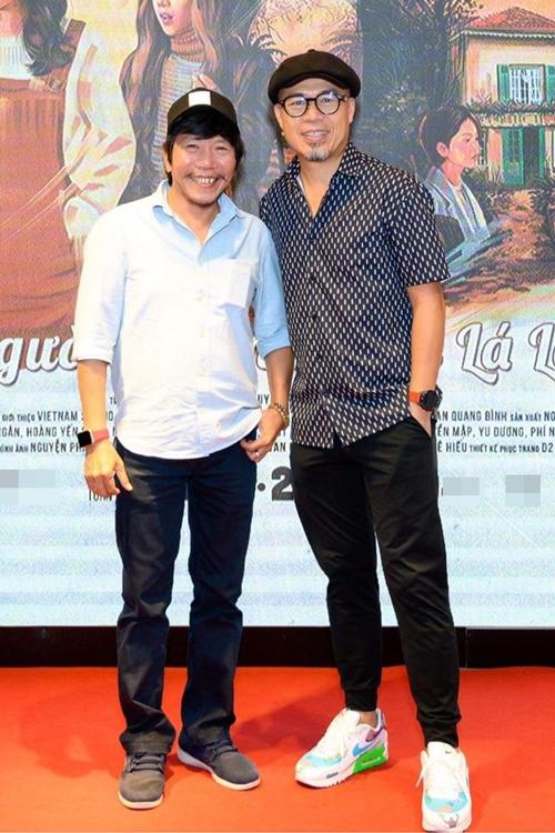 Anh vui vẻ hội ngộ đạo diễn Nguyễn Tranh.