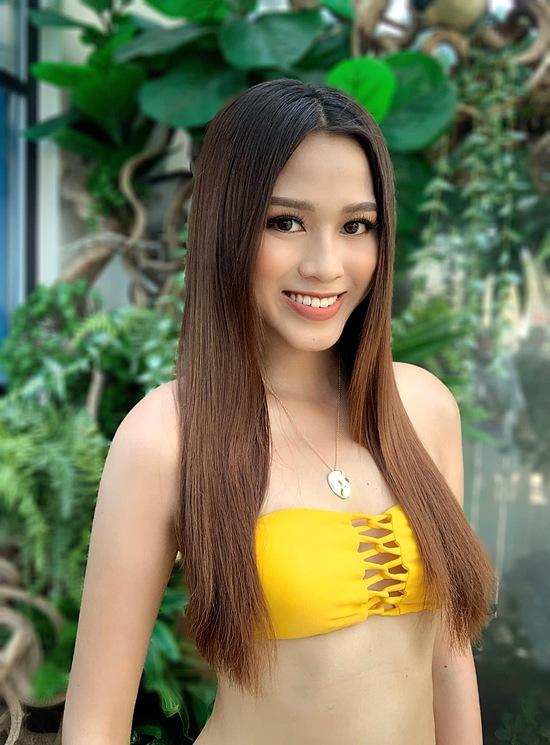 Đỗ Thị Hà cao 1,75m, số đo 80-60-90 cm.