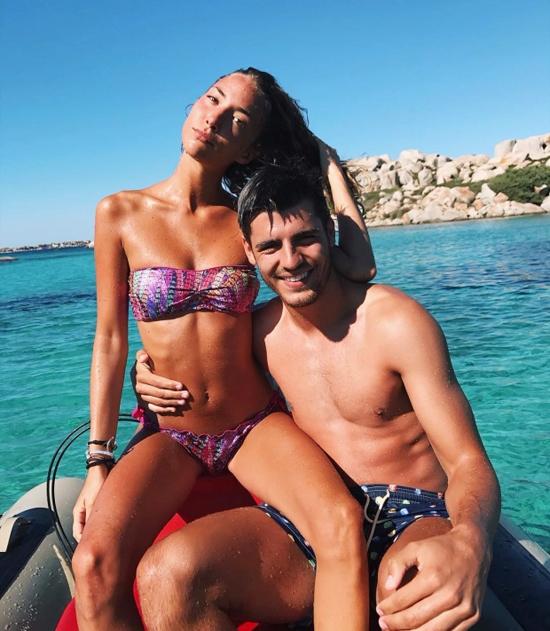 Morata và bà xã luôn thể hiện tình yêu nồng nàn qua những bức ảnh, chia sẻ ngọt ngào trên trang cá nhân. Ảnh: Instagram.