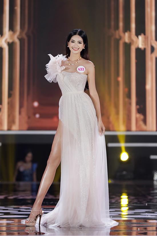 Nguyễn Thị Thu Phương (Bắc Ninh) sinh năm 2000, chiều cao 1,75 m, số đo ba vòng 82-62-92 cm.