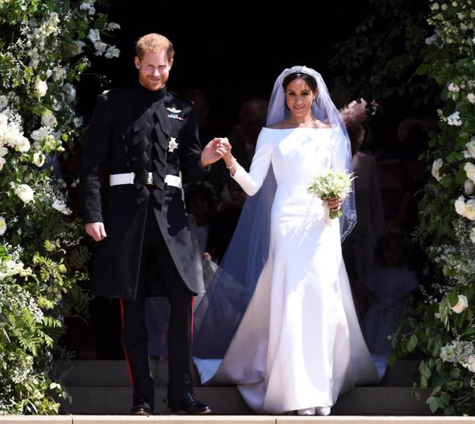 Harry - Meghan trong đám cưới hồi năm 2018. Ảnh: Reuters.