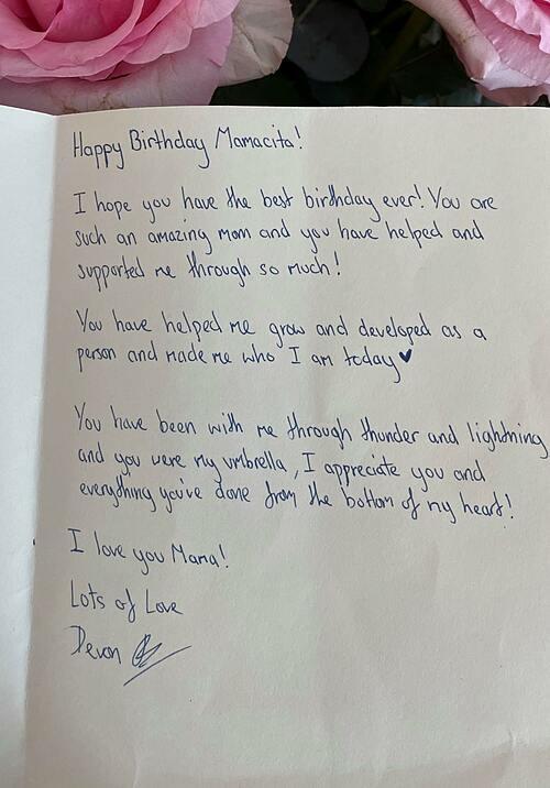 Thư của Bảo Tiên viết cho mẹ.