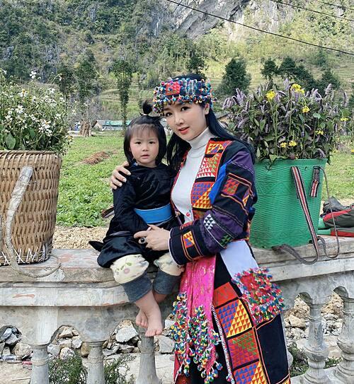 Hoa hậu Đền Hùng Giáng My hóa cô gái vùng cao Hà Giang.