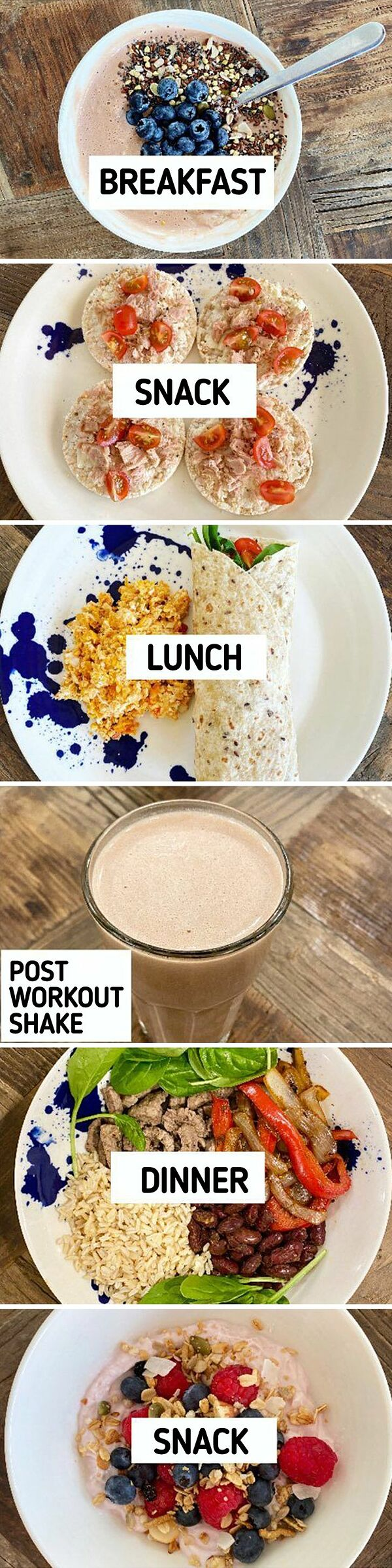 Shelley ăn 6 bữa nhỏ mỗi ngày thay vì 3 bữa lớn.