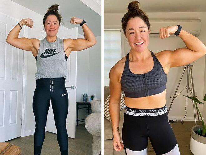 Cô học lỏm cách mọi người tập luyện tại phòng gym và xem các video hướng dẫn trên mạng để tự thiết kế bài tập cho riêng mình.