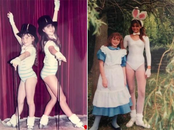 Vic (bên phải) và cô em gái Louise gắn bó bên nhau từ ngày nhỏ. Ảnh: Instagram.