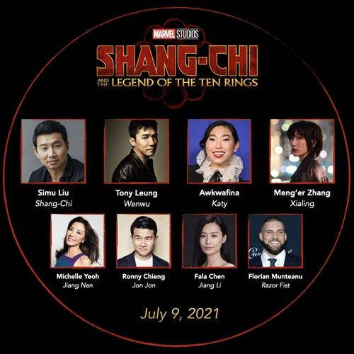 Hình ảnh của Lương Triều Vỹ, Tony Leung, Dương Tử Quỳnh (Michelle Yeoh) và Trần Pháp Lai (Fala Chen) trong dàn diễn viên của Shang-Chi and the Legend of the Ten Rings.