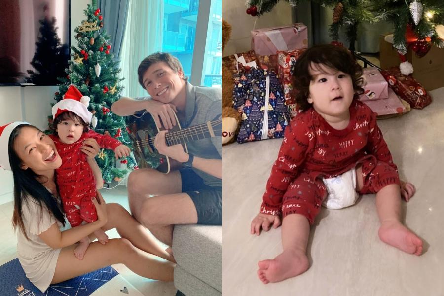 Sống ở Singapore, gia đình Hoàng Oanh dành trọn buổi tối Giáng sinh bên nhau, cùng đàn hát nhiều ca khúc tình cảm. Nhóc tỳ Max đã biết bò và tỏ ra háo hức với cây thông Noel cùng những gói quà.