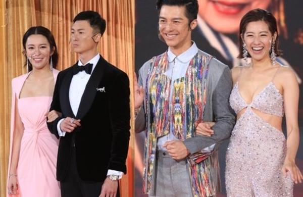 Trên thảm đỏ, vợ chồng Trần Tự Dao và Hạo Tín không chạm mặt.