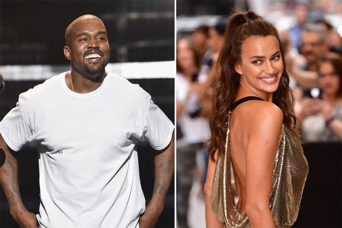 Kanye West và Irina Shayk.